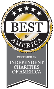 "Certified by Independent Charities of America ""Best in America"""