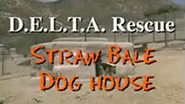 How to build a straw bale dog house