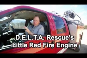 DELTA Rescue Little Red Fire Engine - to protect the animals at the sanctuary